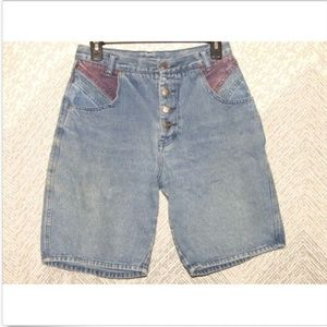 Vintage Stefano International Denim Mom Shorts